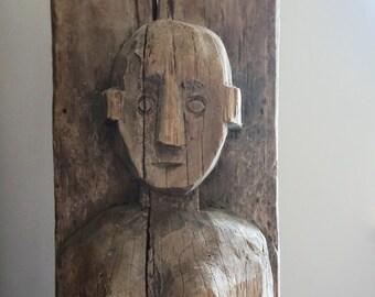 Naga Woman Carving // Large // Folk Art of India