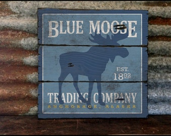 Blue Moose Trading Company, Handcrafted Rustic Wood Sign, Mountain Decor for Home and Cabin, 2079