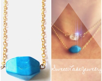 Turquoise gold necklace