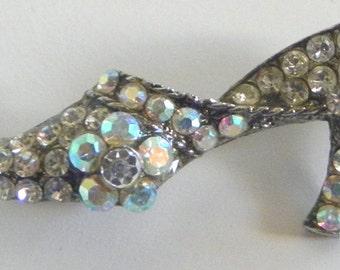 Adorable Rhinestone Shoe Pin