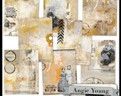 Journal It Papers Set #11 - Digital Art Supplies By Angie Young