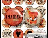 Digital Collage Sheet: Kreise #11 (3 Größen - 2 Zoll, 1 Zoll, 1,5-Zoll) - digitale Kunst-Versorgungsmaterialien von Angie Young