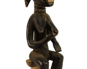 Baule Seated Female Asie Usu Ivory Coast Africa Superb 91930