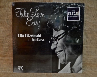 SEALED...Ella FITZGERALD/Joe PASS - Take Love Easy - 1974 Vintage Vinyl Record Album