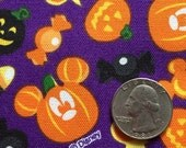 Sep Special Halloween disney Mickey pumpkin mouse  purple colour fabric
