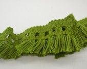 Vintage Avacado Green Tassel Trim 6 yards