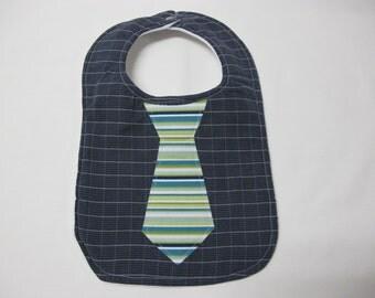 Upcycled mens shirt baby neck tie bib