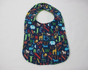 ABC toddler bib
