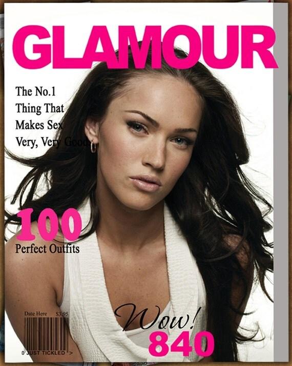 glamour magazine cover 1 8x10 digital photoshop template. Black Bedroom Furniture Sets. Home Design Ideas