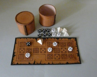 Leather board game – Royal Game of Ur