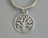 Tree Of Life Key Chain Silver Keychain Gift for Nature Lover Family Him or Her Best Friend