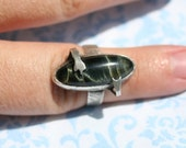 Vintage Green Tigers Eye Ring Size 6