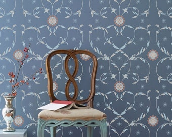 Florentine Flourish Damask Wall Stencil For Wall Decor and More