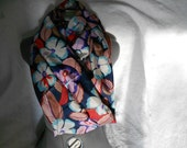 NeW iTeM Black, Green, Purple and Teal Silky Infinity Scarf - Made to Order