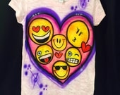 Kids Airbrush Burnout Fitted Tees