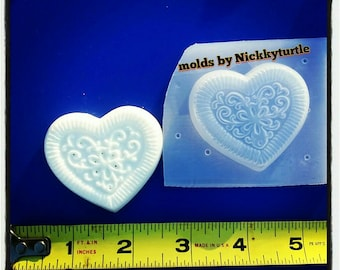 Oreo cookie heart Flexible Plastic Resin Mold