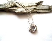 Silver Mobius Chainmaille Necklace - Mobius Chainmaille Necklace - Chainmaille Necklace - Chainmaille Jewelry - Handcrafted Artisan Jewelry