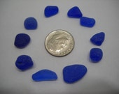 Genuine Sea Glass Cobalt Blue From The Pacific Northwest
