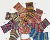 German self striping sock yarn Hot Socks Paris Grundl,75/25 superwash wool/polyamid