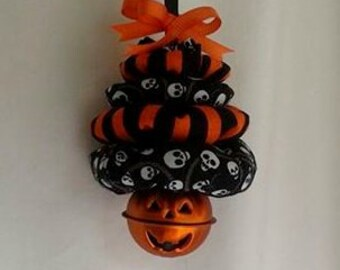 CIJ - Christmas in July / Halloween for Christmas Tree Ornament with Pumpkin Bell