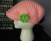 Pink and Green Newsboy Ivy Cap - CLEARANCE