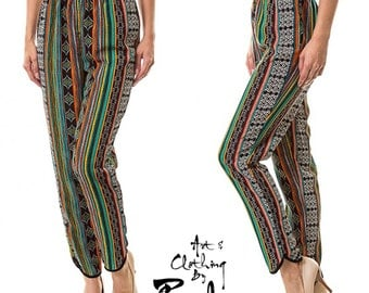 Aztec Navajo Tribal Geometric Pants