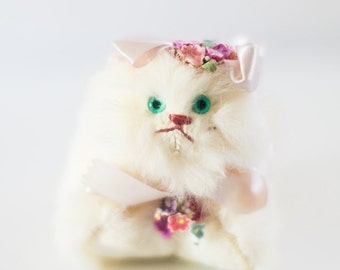 Vintage Rabbit Fur Cat Wolper Toy Co NY