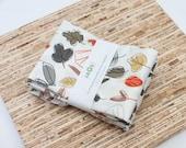 Large Cloth Napkins - Set of 4 - (N2436) - Autumn Leaves Modern Reusable Fabric Napkins