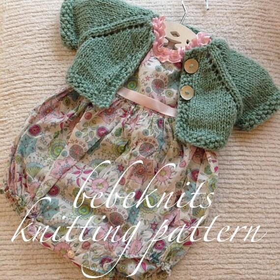 Summer Baby Knitting Patterns : Bebeknits Sweet Summer Time Baby Cardigan Knitting Pattern
