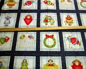 Joyful Angels Blocks 36x44 cotton fabric panel from Diana Marcum for Marcus Brothers - Retired OOP