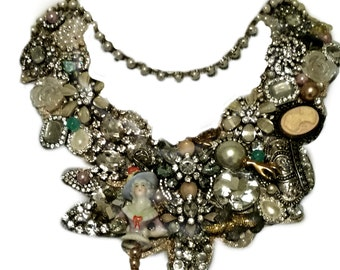 Marie Antoinette Statement Necklace ...  O-O-A-K ... Ready To Ship ...FREE shipping worldwide