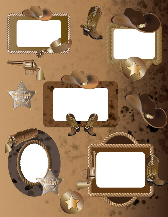 Western Cowboy Border clipart Graphics High Resolution