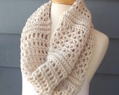 Closing SALE (RTS) / CLARICE (X-04) Oversized Crochet Cowl / lightweight, nonchunky