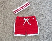 Custom Listing for Leah Marsh, Baby Basketball Shorts, Sweatband,Newborn Basketball,Runner, Athlete,Crochet Baby Shorts,Baby Sports Outfit
