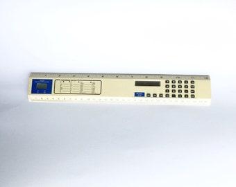 Ruler Calculator Clock Vintage Electronics