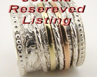 Reserved listing - charge for a large ring size (10.5 and up)