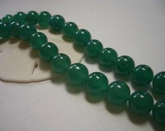 Aventurine green, 8mm round, gemstone beads, round gemstone, 8mm beads, Aventurine, 8mm gemstone beads, quality beads, dark green Aventurine