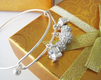 Bridal bracelet,  crystal bracelet, bridal jewelry, wedding accessories, bridesmaid bracelet, crystal wedding