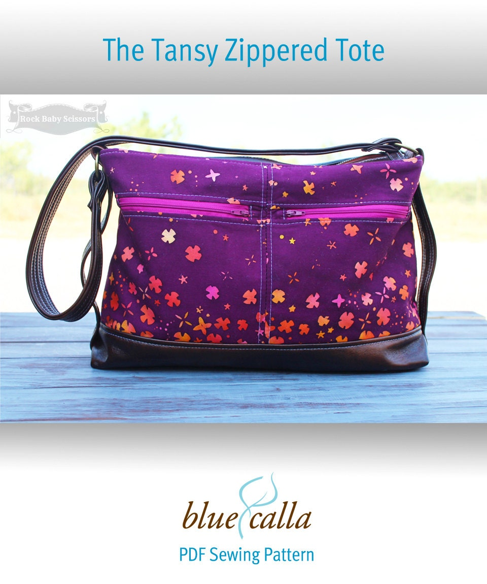 The Tansy Zippered Tote Pdf Sewing Pattern