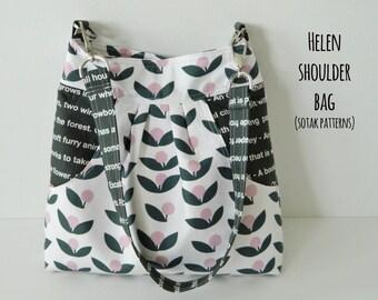 Helen Shoulder Bag {PDF sewing pattern} instant download, sewing, large front pocket, unique, purse, shoulder bag, sotak patterns