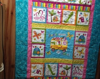 I'm cute baby quilt 34 x 52.