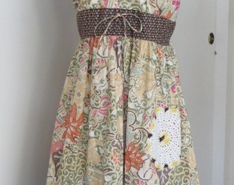SUNDRESS  - Prairie Inspired Cotton Summer DRESS -  SiZE LARGE