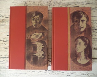 Jane Eyre and Wuthering Heights - Bronte Sisters Book Set - Heritage Press Collectors Editions