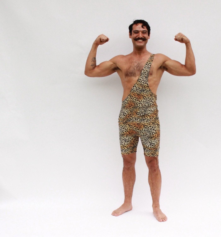 Strongman Costume Tarzan Wrestling Singlet Men's by Brennware