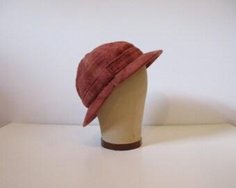 "Rust ""Sherlock Holmes"" Deerstalker Cap / 50's"