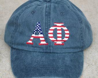 Alpha Phi American Flag Cap