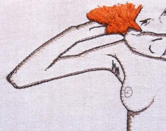 Egon Schiele Nude - Art Embroidery