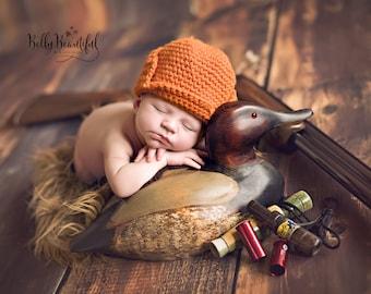 Crochet Pattern - Newborn Photo Prop Hat Pattern - Baby Boy Pattern - Newborn Hat Pattern - Baby Prop Pattern - Crochet Boy Hat Pattern
