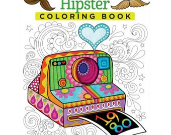 Adult Coloring Book - Hipster - by Design Originals - Shipping Only 4 Dollars (30030952)