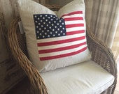 "American Flag Pillow - large - 24"" square"